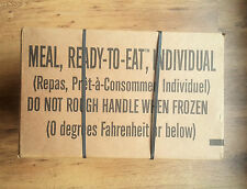 MRE ready to eat MENU A 1-12 US Military combat ration full box EXP2019 unopened