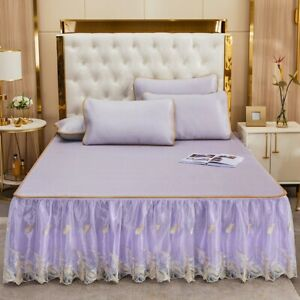 Super cool Ice rattan bed mat bed skirt bed cover flat sheet Bedspreads coverlet