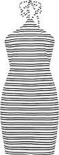 Size Regular Polyester Striped Dresses for Women