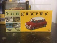 Vanguards Austin 7 Mini Red/White Roof 1/43 MIB Ltd Ed VA01307