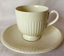 FOUR CLASSIC WEDGWOOD EDME CREAMWARE DEMITASSE CUPS & SAUCERS, GREAT CONDITION