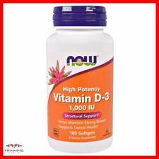 Now Foods Vitamina D-3 1000iu 180 cápsulas blandas Huesos Dientes