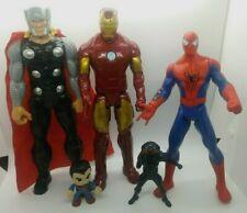 "2014 Amazing Spider-Man 10"" Talks Sounds Hasbro Marvel Thor And Ironman Figures"