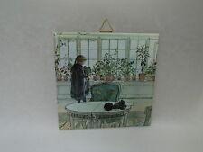 Ceramic Cork Backed Tile Trivet Hot Pad ~ Swedish Carl Larsson Flower Window 127
