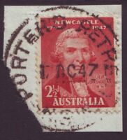 """NSW POSTMARK """"PORTER'S RETREAT"""" DATED 1947 ON 2-1/2d KGVI (A10702)"""