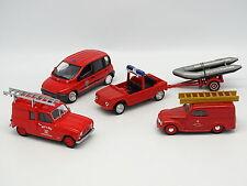 Solido Brumm... SB 1/43 Set di 4 Vigili del fuoco Fiat Renault 4L Citroen Mehari
