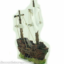 Shipwreck Sunken Boat Small Fish Tank Aquarium Decoration Ornament - MS750