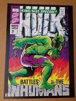 Hulk King Special 1 Inhumans Marvel Comics Poster by Jim Steranko