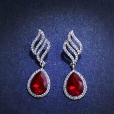 Austrian Crystal Diamante Big Red Drop/Dangle Ladies Ball Special Earrings Gift