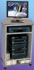 Carrello Porta TV L 54 cm x P 35 cm x H 81 cm Grigio Alluminio