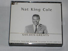 NAT KING COLE GOLDEN GREATS 3 CDs 75 (!) SELECTIONS  MINT CONDITION