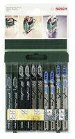 Bosch 2 609 256 746 - Juego de hojas de sierra de calar de 10 piezas vástago T
