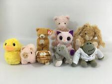 Assorted Soft Cuddly Stuffed Animals Job Lot Bundle Bear Duck Rabbit Pig Cat