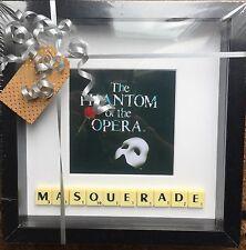 "Phantom of the Opera ""Masquerade"" Scrabble photo neuf de la marque peut personnaliser"