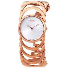 Calvin Klein Body Silver Dial Ladies Watch K4G23626