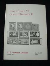 H R HARMER AUCTION CATALOGUE 1967 KING GEORGE VI QEII