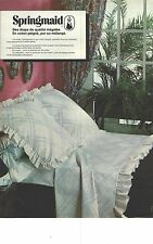 PUBLICITE  1976  SPRINGMAID linge de maison draps