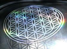 Flower of Life Rainbow Silver Mandala Sacred Geometry Sticker