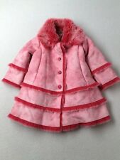 Toddler Girl Widgeon Pink Faux Fur Suede Winter Dress Coat Size 2T
