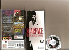 SCARFACE MONEY POWER RESPECT  PSP HANDHELD RATED 18