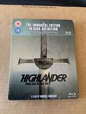 Highlander The Immortal Edition Zavvi UK Bluray Steelbook Brand New & Sealed OOP