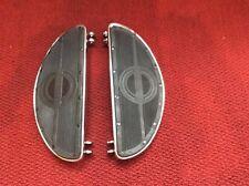 Harley Knucklhead Panhead shovelhead chrome/black floorboard footrest 50603-40