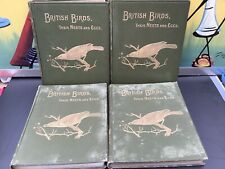 BRITISH BIRDS THEIR NESTS AND EGGS FROHAWK 1899 4 VOLUMES