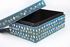 Jewellery/Trinket Boxes Sequins Mirror Beads Covered Design Keepsake Box Wood