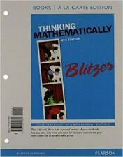 Thinking Mathematically, Books a la Carte Edition by Robert Blitzer (2014,...