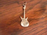 STERLING SILVER SMALL GUITAR PENDANT MUSICAL SILVER JEWELLERY MUSIC LOVERS GIFT