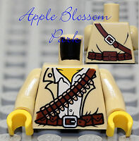 TORSO M016 Lego Male Tan Desert Safari Shirt Red Bandana Gun pattern NEW