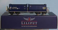 Liliput 235585 -Spur H0- BLS Muldenkippwagen Fans-u, 4achs., blau, Epoche 5
