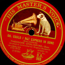 THEODORE CHALIAPINE - BASS- Oh, could I but express in song/.. Ploughman S9536
