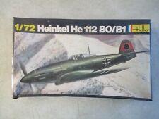 VINTAGE 1/72 HEINKEL HE 112 BO/B1 MODEL KIT BY HELLER MINT IN BOX #240