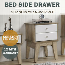 MEYA 2 Drawer Bed End Night Stand Side Table Scandinavian Modern Furniture