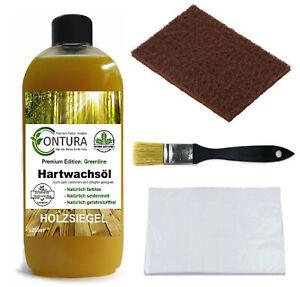 CONTURA Hartwachsöl SET Möbelöl Holzöl Hartwachs Pflegeöl farblos 250ml - 5tlg.