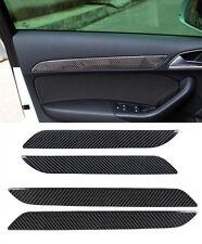 Carbon Fiber Interior Door Panel Decorative Cover Trim 4pcs For Audi Q3 2013-16