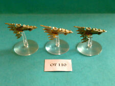 Battlefleet gothic - Eldar Flotte - Aconitum Fregatten x3 - Metall OT110