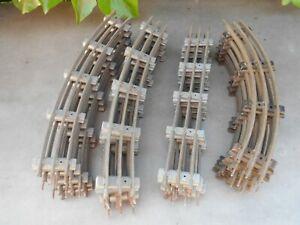 14 anciens rails JEP 10 courbes 4 droits + 5 courbes HORNBY pour train échelle O