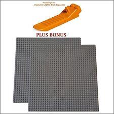 LEGO Separator PLUS BONUS: 2 Dark Grey 10x10-inch, 32x32 compatible base plates