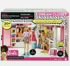 Barbie Dream Closet with 30+ Pieces, Toy Closet, Features 10+ Storage Areas New