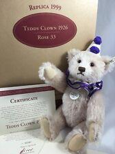 Steiff Teddy Bear Clown 1926 Replica Rose 33 1999 EAN 407260