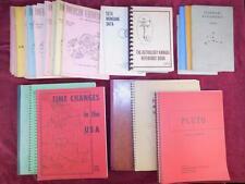 AMERICAN FED.ASTROLOGERS/SIDEREAL EPHEMERIS/ASTROLOGY/HOROSCOPES/40 BOOKS 1960's