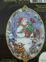 Dimensions Gold Collection Petites Snow Friend Ornament Kit 8656 Charms 2000