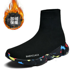 Winter Plush Warm Men High Top Casual Socks Shoes Athletic Sneaker Running Shoes