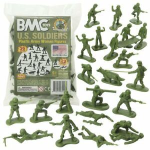 """BMC 67013 """"1/32 Army Women (OD Green)"""" 36pc 54mm Plastic Toy Soldiers"""