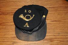 US Civil War Reenactors Union North Army Navy Blue Forage Leather Brim Small 10A