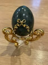 Vtg Marble The Franklin Mint Collector's Treasury Of Egg - Stand Not Included