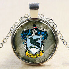 Vintage Harry Potter medal Cabochon silver Glass Chain Pendant Necklace Jewelry