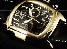Invicta Mens 47mm Lupah Swiss Chrono Black Dial Gold Tone Watch 2236